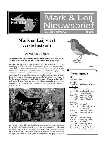 jaargang 6 – nummer 22 – juli 2002 - natuurvereniging MARK EN LEIJ