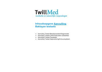 Inhoudsopgave - Bioresonantie.nl