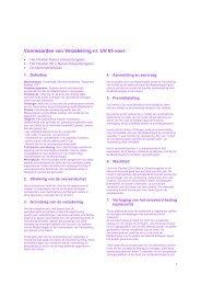 Voorwaarden van Verzekering nr. UV 05 voor: - Algemeen Belang