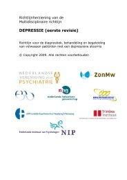 DEPRESSIE (eerste revisie) - GGZ-richtlijnen