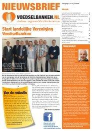 Start landelijke Vereniging Voedselbanken - Voedselbank Arnhem