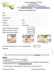 Téléchargez le contrat de réservation Mobil Home - Camping Les ...