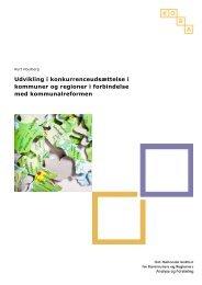 Udvikling i konkurrenceudsættelse i kommuner og regioner i ...