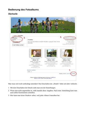 Bedienung des Fotoalbums - meierb.info