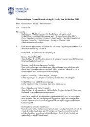 Minnesanteckningar från möte 2012-10-16 - Norrtälje kommun