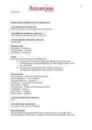 Utskick V.. - Välkommen till Attention Sollentuna