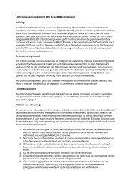 Orderuitvoeringsbeleid IBS Asset Management