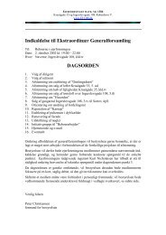 Indkaldelse til Ekstraordinær Generalforsamling ... - EF1386