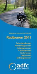 Radtouren 2011 - ADFC Bad Tölz / Wolfratshausen
