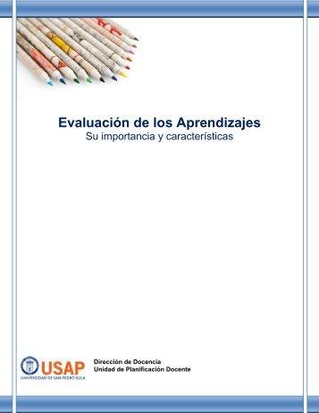 Manual de Evaluación de los Aprendizajes