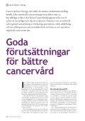 Läs avsnittet om cancervården i Sverige - Cancerfonden - Page 2