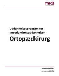 Uddannelsesprogram - Regionshospitalet Horsens