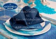 Servietfoldninger - ASP-Holmblad A/S