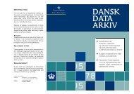 folder om dda - DDA Samfund - Dansk Data Arkiv