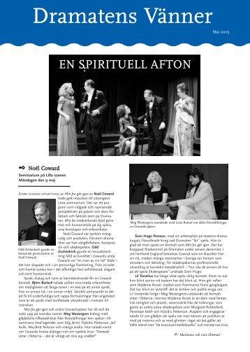 Medelemsblad maj - Dramatens vänner