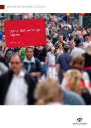 DO och diskrimineringsfrågorna - Riksrevisionen