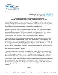 For Immediate Release Media Contacts - Florida Virtual School