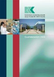 Qualitätsbericht - Robert-Koch-Krankenhaus Apolda