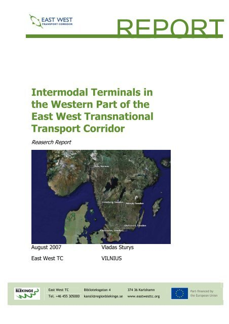 Intermodal Terminals in the Wester Part of the East-West