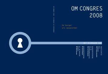 OM Congres 2008 - Openbaar Ministerie