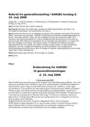 Referat fra generalforsamling i KARIBU torsdag d. 15. maj 2008