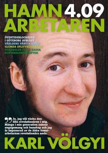 Hamnarbetaren_2009-4.pdf - Svenska Hamnarbetarförbundet