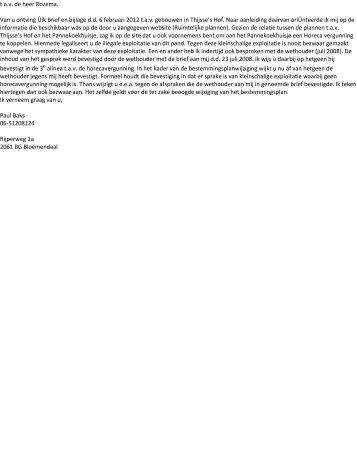 Alle zienswijzen ontwerp bestemmingsplan Bloemendaal 2012 ...