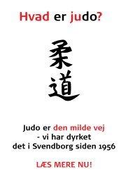 Infofolder - Svendborg Judo Klub