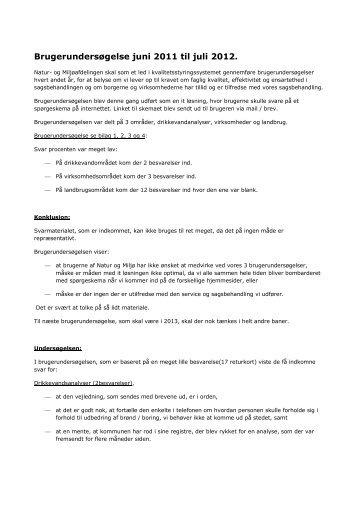 Brugerundersøgelse juni 2011 til juli 2012. - Skive.dk