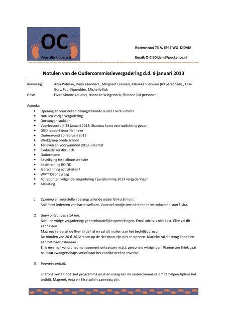 9 Januari 2013 Puck Co