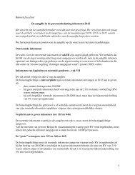 1 Rubriek fiscaliteit De aangifte in de personenbelasting ... - Aes