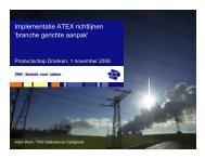 Implementatie ATEX richtlijnen - Commissie Gedistilleerd