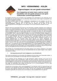 INFO - VERWARMING – KOLEN - brafco