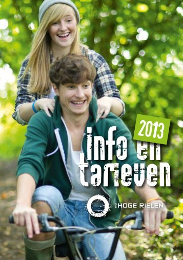 info & tarieven 2013 - De Hoge Rielen