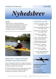 Nyhedsbrev August 2010 - Havkajakken & Friluftsliv a-s