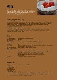 Blødkogt og hårdkogt æg Gratin Omelet i ovn