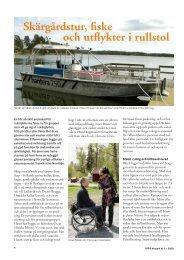 Skärgårdstur, fiske och utflykter i rullstol - SFFF