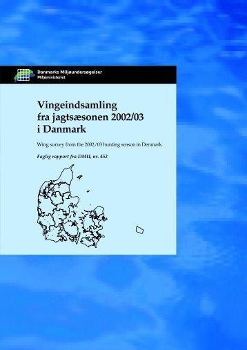 Vingeindsamling fra jagtsæsonen 2002/03 i Danmark