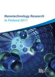 Nanotechnology Research in Finland 2011 - Nanobusiness