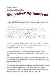 Skriveiver og lesefres – et prosjekt for kompetanseheving i ...