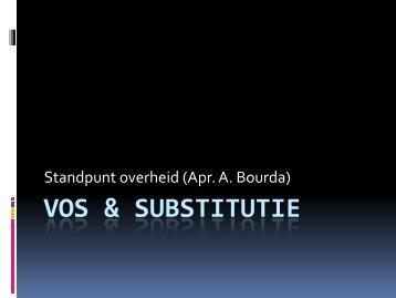 VOS & Substitutie - Vlaams Artsensyndicaat