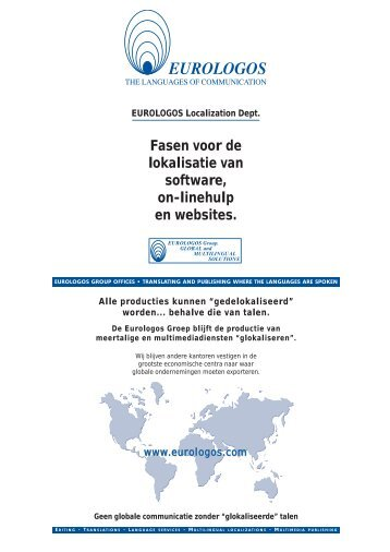 Fasen voor de lokalisatie van software, on-linehulp en ... - Eurologos