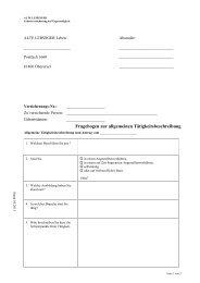 Fragebogen zur allgemeinen Tätigkeitsbeschreibung - Vermittlerportal