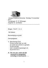1 Liturgie Eredienst Dorsvloer Zondag 13 november ... - De Dorsvloer