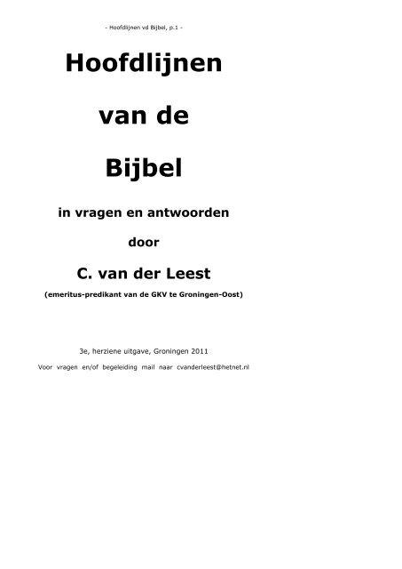 Ongekend cursus : hoofdlijnen van de bijbel - Groningen Oost JM-08