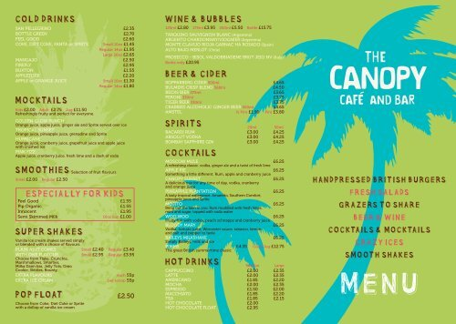 Cold drinks MoCktails super sHakes pop Float     - Center Parcs