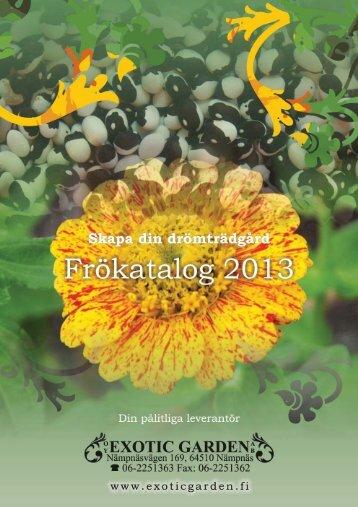 PDF-Katalog 2013 - Exotic Garden