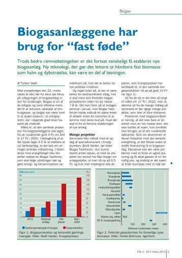 """Biogasanlæggene har brug for """"fast føde"""" - Biopress"""