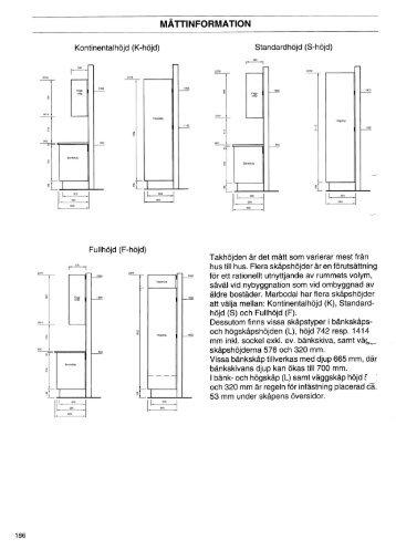 Marbodal Mått Montering.pdf (0,6 Mb) - XL Bygg