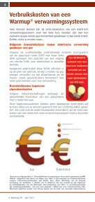 Warmup brochure - Elektrische Vloerverwarming - Page 6